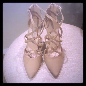Closed toed, Kris Kross strappy heels